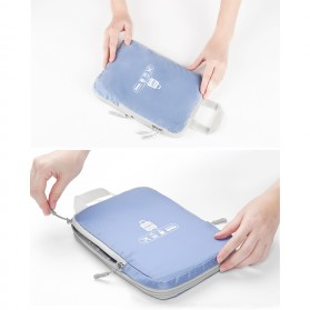 BUBM Tas Travel Bag in Bag Organizer 5 in 1 - T5JTX - Blue - 4