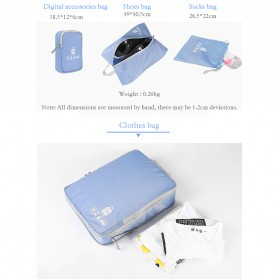 BUBM Tas Travel Bag in Bag Organizer 5 in 1 - T5JTX - Blue - 6