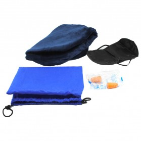 BUBM Bantal Leher Inflatable - U Pillow-S - Navy Blue - 4