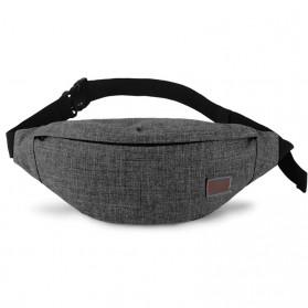 Tinyat Tas Pinggang Waistbag Nylon Waterproof - T201 - Black - 2