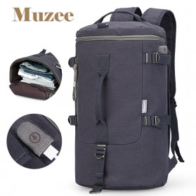 Muzee Tas Duffel Travel 3 in 1 dengan USB Charger Port - ME-1067 (backup) - Blue/Black - 1