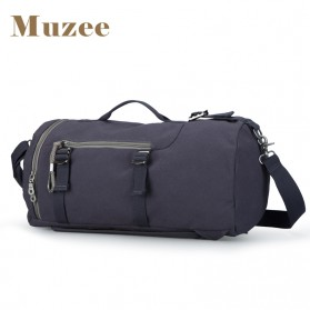 Muzee Tas Duffel Travel 3 in 1 dengan USB Charger Port - ME-1067 (backup) - Blue/Black - 2