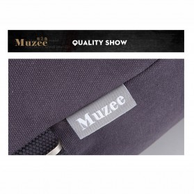 Muzee Tas Duffel Travel 3 in 1 dengan USB Charger Port - ME-1067 (backup) - Blue/Black - 4