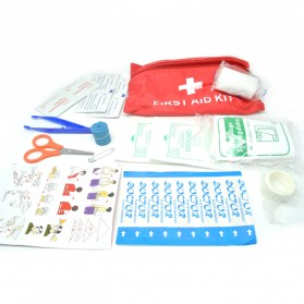 Outdoor First Aid Kit P3K 13 in 1 - SW5002 - Red