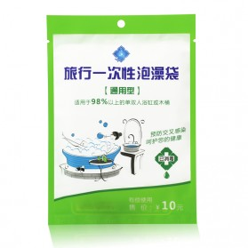 Travel Hygienic Disposable Bags Bath - White