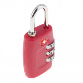 Jasit Lock Gembok Koper TSA Kode Angka - TSA-335 - Red