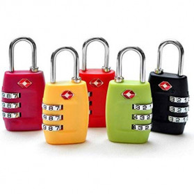 Jasit Lock Gembok Koper TSA Kode Angka - TSA-335 - Red - 2