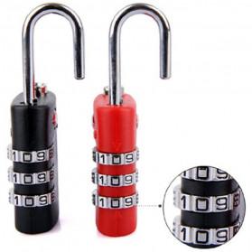 Jasit Lock Gembok Koper TSA Kode Angka - TSA-335 - Red - 8