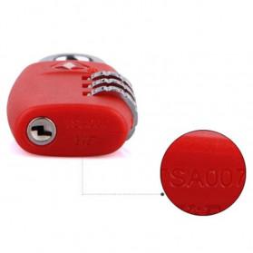 Jasit Lock Gembok Koper TSA Kode Angka - TSA-335 - Red - 9