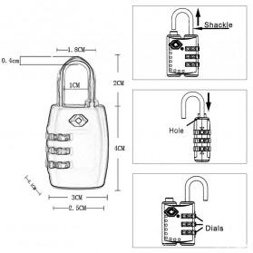 Jasit Lock Gembok Koper TSA Kode Angka - TSA-335 - Blue - 7