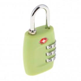 Jasit Lock Gembok Koper TSA Kode Angka - TSA-335 - Green