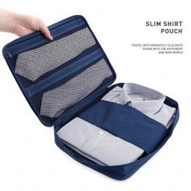 Tas Travel Bag in Bag Organizer untuk Baju Kemeja - Navy Blue - 2