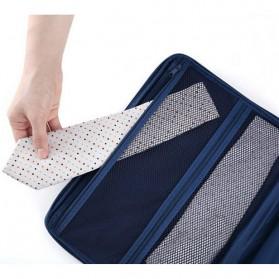 Tas Travel Bag in Bag Organizer untuk Baju Kemeja - Navy Blue - 8