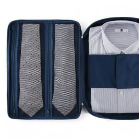 Tas Travel Bag in Bag Organizer untuk Baju Kemeja - Navy Blue - 9