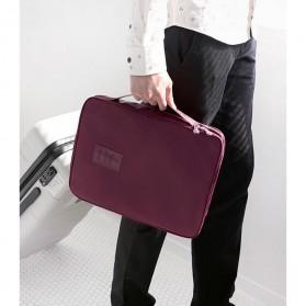 Tas Travel Bag in Bag Organizer untuk Baju Kemeja - Navy Blue - 10