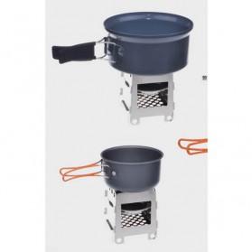 Lixada Stainless Steel Penahan Angin untuk Kompor Camping Outdoor - HWL-02 - Silver - 3