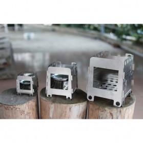 Lixada Stainless Steel Penahan Angin untuk Kompor Camping Outdoor - HWL-02 - Silver - 6