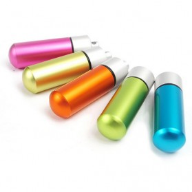CAMISUENO Botol Obat Pill Alumunium Travel EDC Tahan Air - JS207 - Black - 2