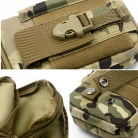 Tas Pinggang Crossbody Waistbag Tactical Army Camouflage - ZSXD001 - Army Green - 7