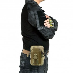 Tas Pinggang Crossbody Waistbag Tactical Army Camouflage - ZSXD001 - Army Green - 8