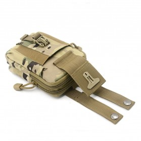 Tas Pinggang Crossbody Waistbag Tactical Army Camouflage - ZSXD001 - Army Green - 9