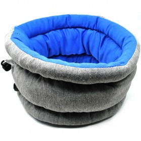 Ostrich Pillow Bantal Leher Penutup Mata Travel - Blue