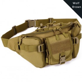 MILRESGUER Tas Pinggang Waistbag Travel Adventure - VF0057 - Brown