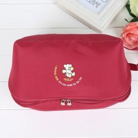 Tas Travel Bag in Bag Organizer Pakaian Dalam - Red