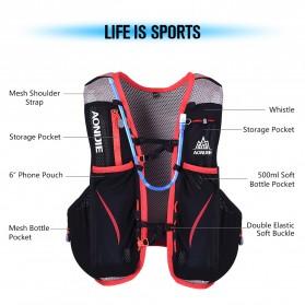 Aonijie Tas Olahraga 5L dengan Hydration Slot 1.5L Size S/M - Black - 6