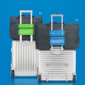 Tas Travel Lipat Gantungan Koper Waterproof 32L - SW1014 - Blue - 4