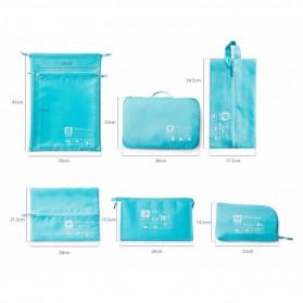Tas Travel Bag in Bag Organizer Pakaian 7 in 1 - Blue - 3