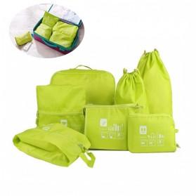Tas Travel Bag in Bag Organizer Pakaian 7 in 1 - Blue - 5