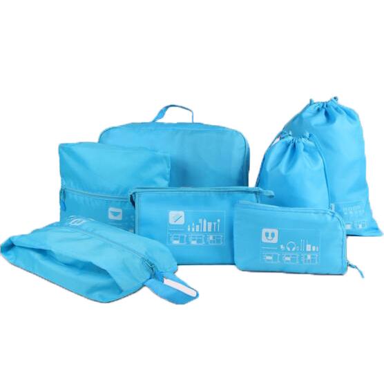 ... Tas Travel Bag in Bag Organizer Pakaian 7 in 1 - Blue - 1 ...