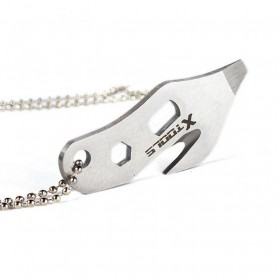 EDC Necklace Multifunction Tools - Silver - 2
