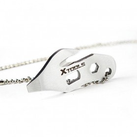 EDC Necklace Multifunction Tools - Silver - 3