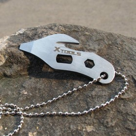 EDC Necklace Multifunction Tools - Silver - 5