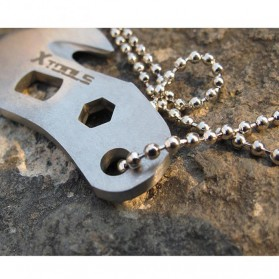 EDC Necklace Multifunction Tools - Silver - 7