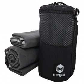 Megon Handuk Travel Quick Dry 2 PCS - Black