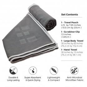 Megon Handuk Travel Quick Dry 2 PCS - Black - 2