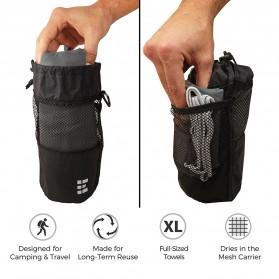 Megon Handuk Travel Quick Dry 2 PCS - Black - 3