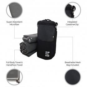 Megon Handuk Travel Quick Dry 2 PCS - Black - 4