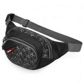 Tas Pinggang Waistbag Sport Outdoor - 4122 - Black