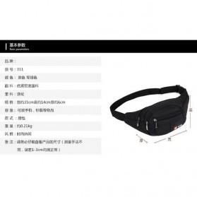 LSKK Tas Pinggang Travel Waistbag - 311 - Black - 3