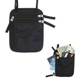 Hidden Travel Pouch Anti RFID - J2Y - Black