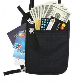 Hidden Travel Pouch Anti RFID - J2Y - Black - 2
