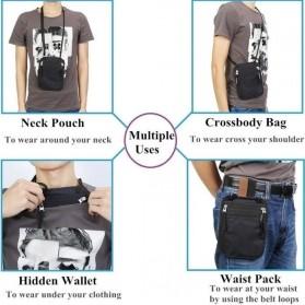 Hidden Travel Pouch Anti RFID - J2Y - Black - 3