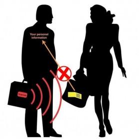 Hidden Travel Pouch Anti RFID - J2Y - Black - 4