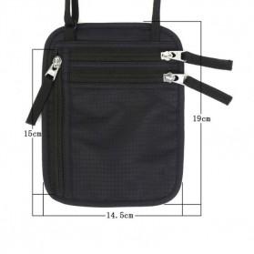 Hidden Travel Pouch Anti RFID - J2Y - Black - 5