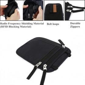 Hidden Travel Pouch Anti RFID - J2Y - Black - 6