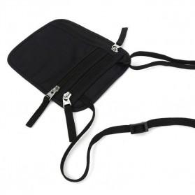 Hidden Travel Pouch Anti RFID - J2Y - Black - 7
